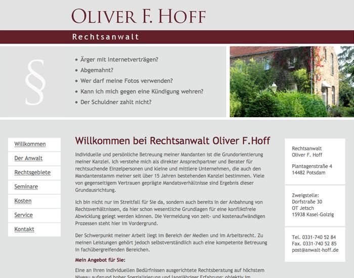 Webseite Rechtsanwalt