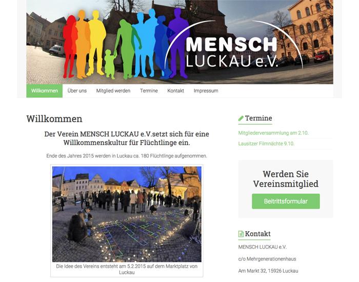 Website MENSCH LUCKAU
