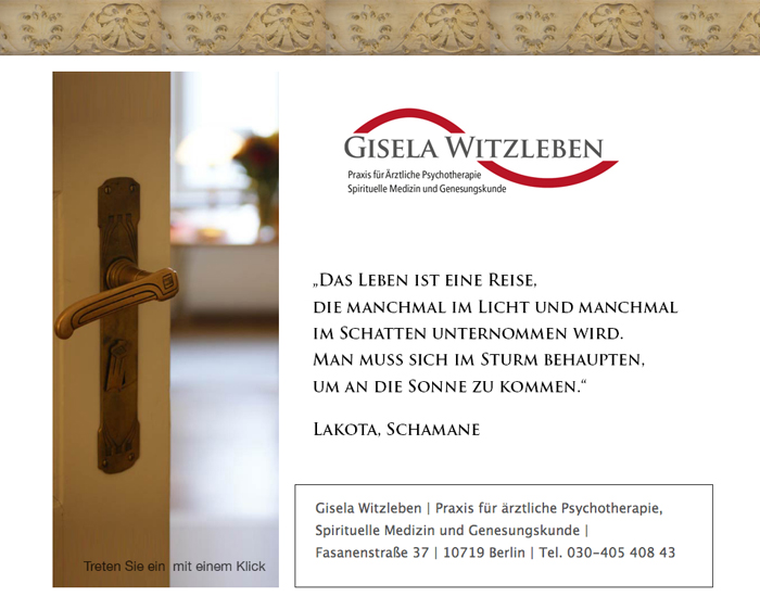 Homepage Gisela Witzleben - Ärztliche Psychotherapie